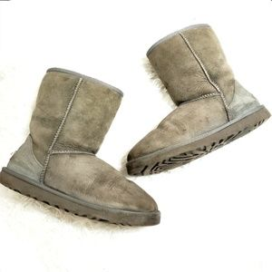 Ugg | Classic Short 5825 Grey Suede Boot Size 8